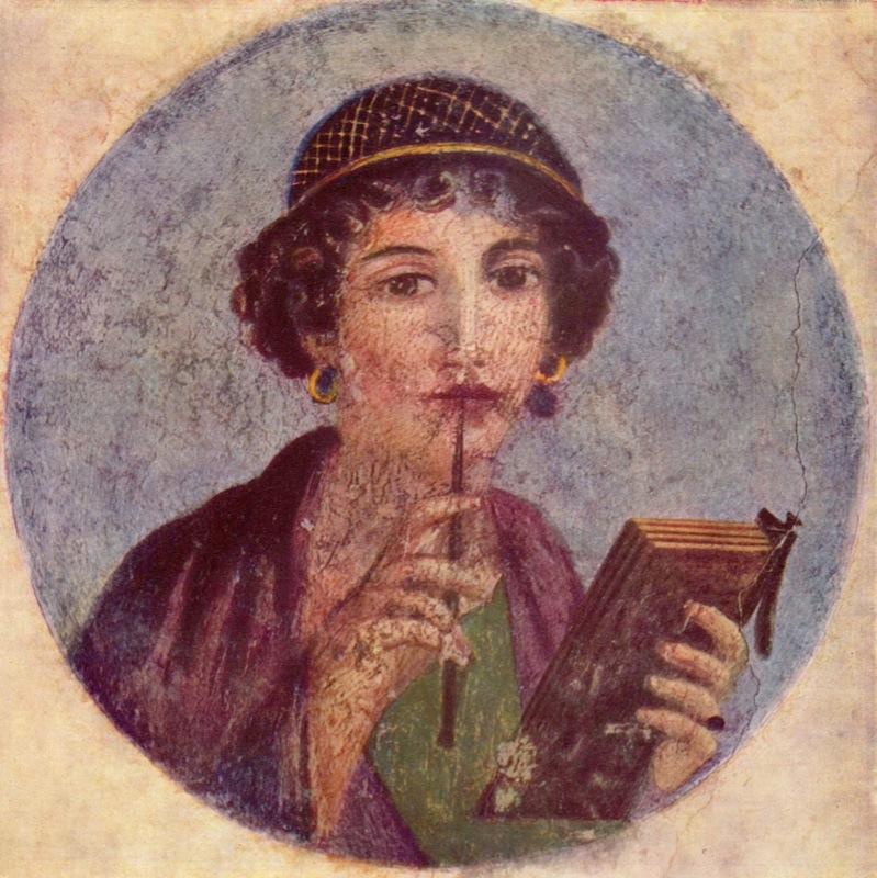 PÁG. 10 La poetisa Safo, de Lesbos.