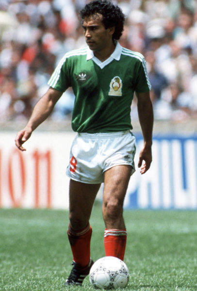 Fussball : WM 1986 in Mexiko , Hugo SANCHEZ / Mexiko