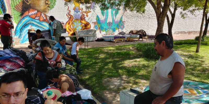 c.- A la intemperie se encuentran los indigentes del albergue Tambitos por la indiferencia de las autoridades del municipio de Durango.